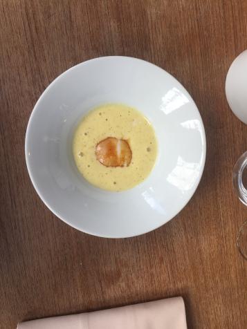 zupa krem z kukurydzy z jajkiem po benedyktyńsku